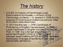 UCLES University Of Cambridge Local Examinations Syndicate Division The Is Created In 1858 For Purpose Holding