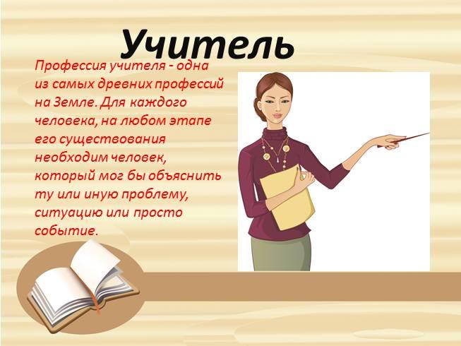 картинки учитель профессия