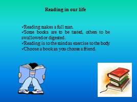 reading makes a full man
